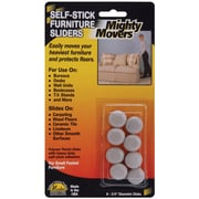 "Restor-It .75"" Round Mighty Movers Self-Stick Furniture Sliders, 8/Pkg (MM87001)"