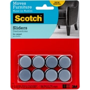 "3M Scotch Self-Stick Sliders, 1"", 8/Pkg (SP643)"