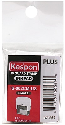 Plus Corporation Small Kes'pon ID Guard Stamp Ink Refill (37264INK)