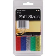 A & W Office Supplies Assorted Colors Foil Star Stickers, 440/Pkg (43003)