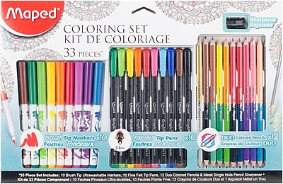 Maped Helix Usa Coloring Set, 33/Pkg (897449)
