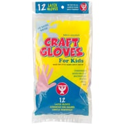 Hygloss Assorted Colors Kids Craft Gloves, 12/Pkg (97112)