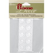 Darice Clear Adhesive Bumpers Round 12 mm x 4 mm, 10/Pkg (1016-39)