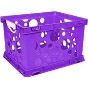 "Storex Industries Purple Premium Classroom File Crate W/Handles, 17.25"" x 14.25"" x 10.5"" (6145U03C-61459)"