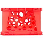 "Storex Industries Red Premium Classroom File Crate W/Handles, 17.25"" x 14.25"" x 10.5"" (6145U03C-61456)"