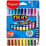 Maped Helix Usa Color'Peps Duo Tip Ultra-Washable Markers, 10/Pkg (847010)