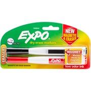 Sanford Black & Red Expo Magnetic Dry Erase Fine Marker With Eraser, 2/Pkg (1955642)