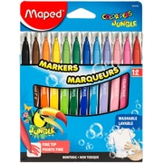 Maped Helix Usa Color'Peps Jungle Fine Tip Washable Markers, 12/Pkg (845448)
