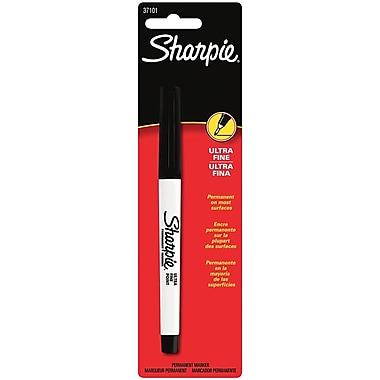 Sanford Black Sharpie Ultra Fine Point Permanent Marker Carded (37101PP)