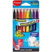 Maped Helix Usa Color'Peps Jungle Fine Tip Washable Markers, 8/Pkg (845447)