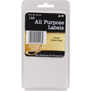 A & W Office Supplies White All Purpose Labels, 1 inch x 2.75 inch , 128/Pkg (AW251 46) by