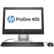 "Certified Refurbished HP ProOne 400-G2 20""Intel Core i3-6300 X2 3.8GHz 8GB 128GB SSD Win10, Black"