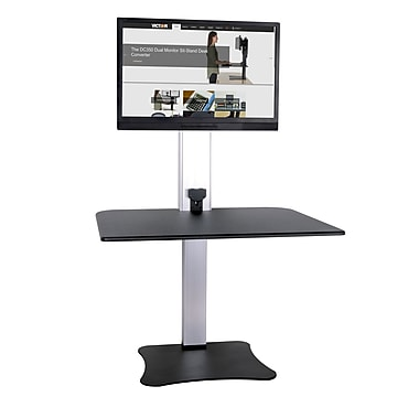 """Victor Technology 28"""" W High Rise™ Electric Single Monitor Standing Desk, Laminate Wood (DC400)"""