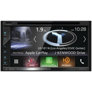 "Kenwood 6.8"" Double-DIN In-Dash Navigation DVD Receiver with Bluetooth, Apple CarPlay,& Android Auto (DNX574S)"