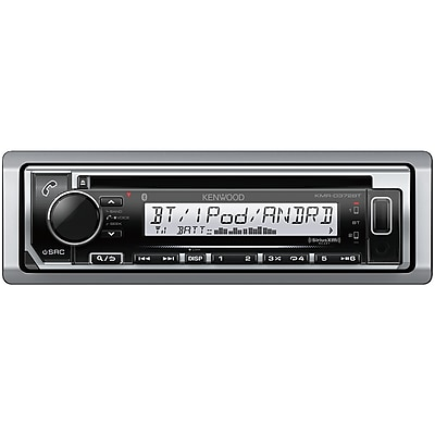 Kenwood Marine Single-DIN In-Dash CD Receiver with Bluetooth & SiriusXM Ready (KMR-D372BT)
