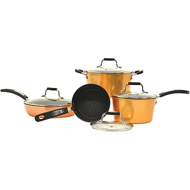 Starfrit The ROCK by Starfrit 8-Piece Copper Cookware Set with Bakelite Handles (030915-001-0000)