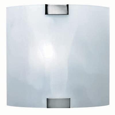 Lite Source A19 Vanity Lamp, Yuit 2-Light, Brushed Nickel (LS-16342)