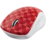 Verbatim Wireless Notebook Multi-Trac Blue LED Mouse, Diamond Pattern; Red (99744)