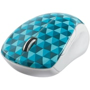 Verbatim Wireless Notebook Multi-Trac Blue LED Mouse, Diamond Pattern; Blue (99745)