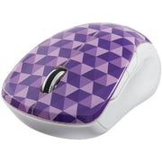 Verbatim Wireless Notebook Multi-Trac Blue LED Mouse, Diamond Pattern; Purple (99746)