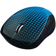 Verbatim Wireless Notebook Multi-Trac Blue LED Mouse, Dot Pattern; Blue (99747)