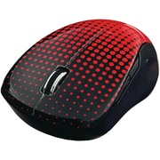 Wireless Notebook Multi-Trac Blue LED Mouse, Dot Pattern; Red (99748)