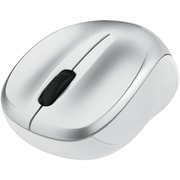 Silent Wireless Blue LED Mouse, Silver (99777)