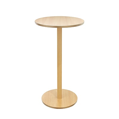 Paperflow Round Pub Table,Beech Wood 43.3