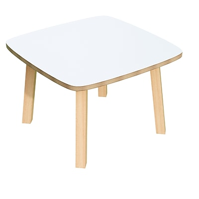 Paperflow Beech Wood with White Laminate Top, Reception Table 15.75