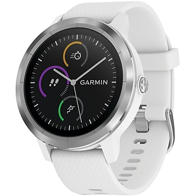 Garmin vívoactive 3, White with Stainless Hardware (010-01769-21)