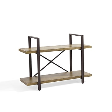 Danya B Two Level Rustic Shelf MDF and Iron