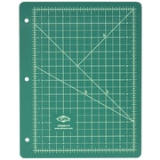 Alvin Professional Self Healing Cutting Mat For 3 Ring Binders 8.5 inch x 11 inch Green/Black by