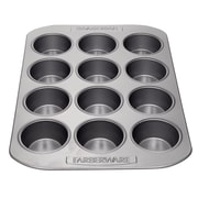 Farberware Bakeware Steel 12-Cup Muffin Pan, Gray (52106)