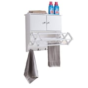 "Danya B 22.2"" Accordion Wall Mount White Drying Rack with Cabinet  (BQ1082)"