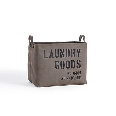 Danya B. Army Canvas Laundry Basket (LY117)