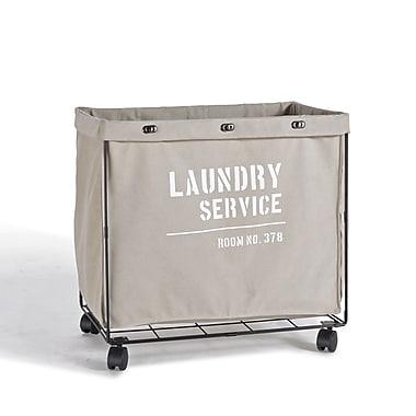 Danya B. Army Canvas Laundry Hamper on Wheels (LY207)