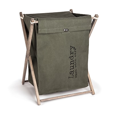 Danya B. Army Canvas Folding Laundry Hamper (LY936)