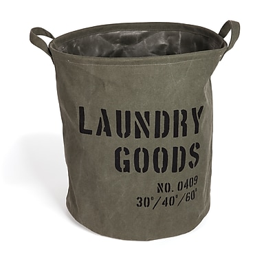 Danya B. Army Canvas Laundry Bucket (LY952)