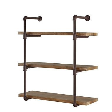 Danya B Three Tier Industrial Pipe Wall Shelf (GH073)