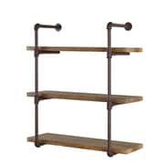 Danya B. Three Tier Industrial  Pipe Wall Shelf (GH073)