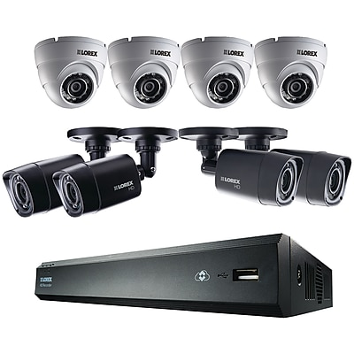 Lorex 16-Channel HD 1TB DVR with 4 Bullet/4 Dome HD Cameras (LHV00161TC4D4B)