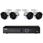 Lorex 8-Channel 4.0-Megapixel 2TB NVR with Four 4.0-Megapixel PoE Cameras (LNK71082TC4B)