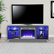"""Ameriwood Home Lumina Fireplace TV Stand for TVs up to 70"""" Wide, Gray (1822296COM)"""