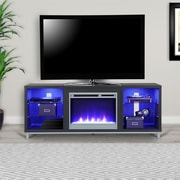 Ameriwood Home Lumina Fireplace TV Stand for, Black Oak (1822196COM)