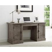 Ameriwood Home Sienna Park Double Pedestal Desk, Weathered Oak (9894096COM)