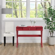 Ameriwood Home Campaign Desk, Red (9258196COM)