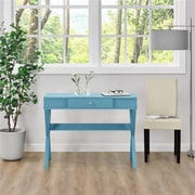 Ameriwood Home Campaign Desk, Blue (9258296COM)
