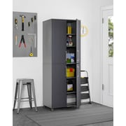 Ameriwood Home SystemBuild Latitude Tall Cabinet, Gray (7470408COM)