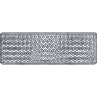 Wellnessmats® Estates Trellis 6' x 2' Anti-Fatigue Floor Mat, Sea Mist (ET62WMRWBLK)