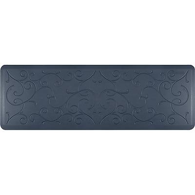 Wellnessmats® Estates Bella 6' x 2' Anti-Fatigue Floor Mat, Lagoon (EB62WMRBGRY)